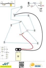 Zestaw elementów do montażu choinki